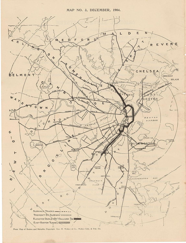 Amazon.com: Boston Elevated Railway Co. Informational Maps, Map 3 ...