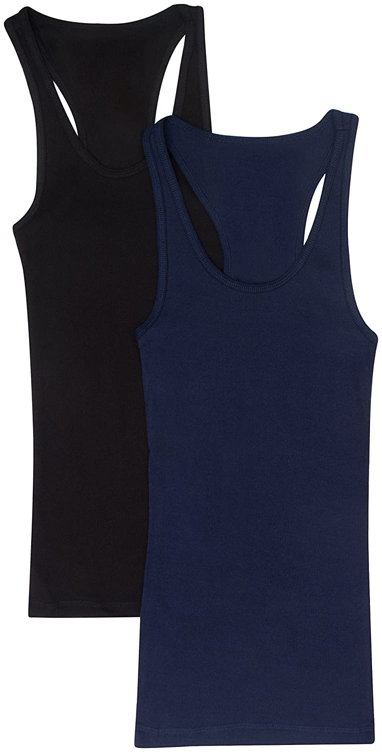 0fdbf8e3bf235a 2 Pack Or 4 Pack Zenana Women s Ribbed Tank Tops by Trendyfriday at Amazon  Women s Clothing store