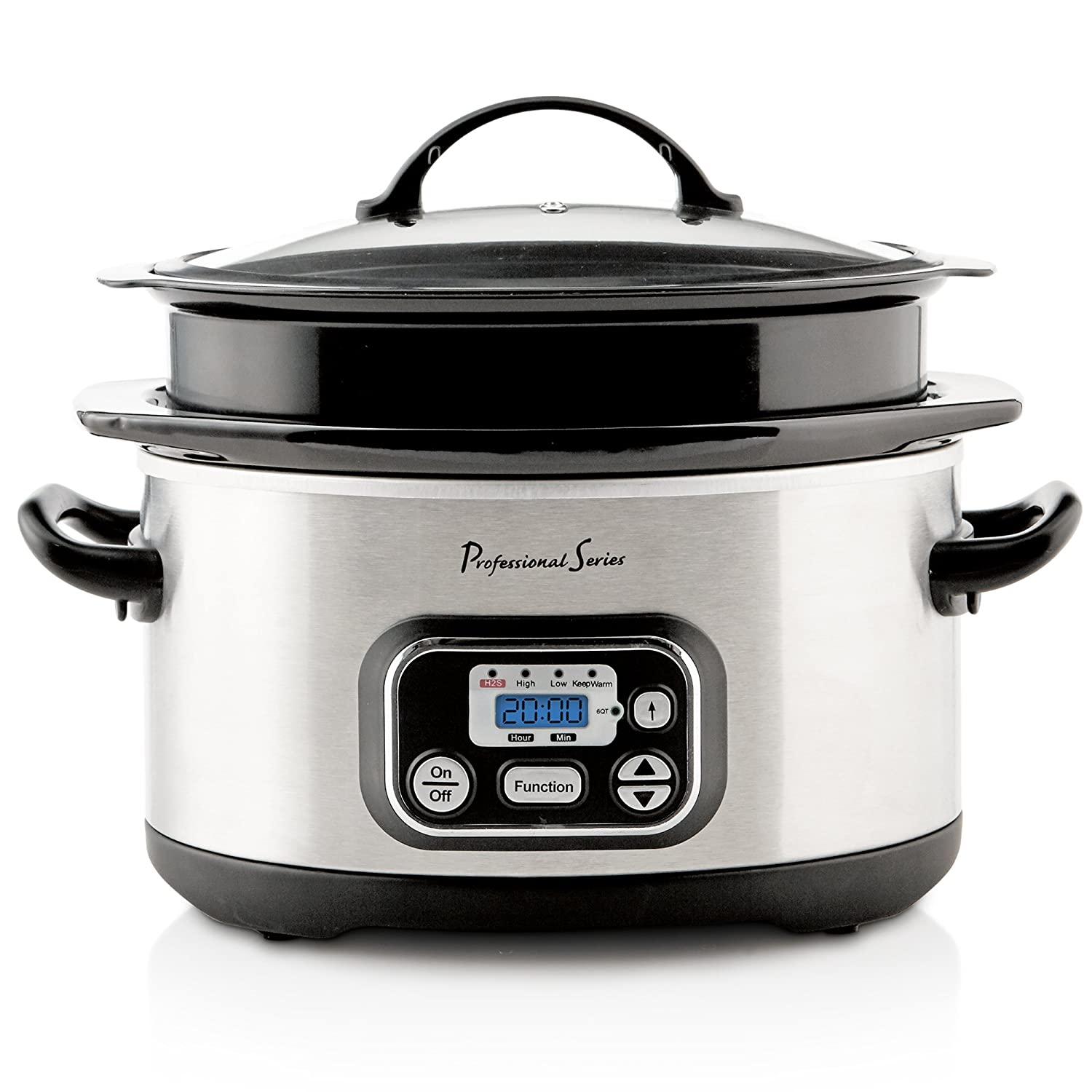 Continental Electric PS75239 Slow Cooker 4-6 quart Stainless Steel