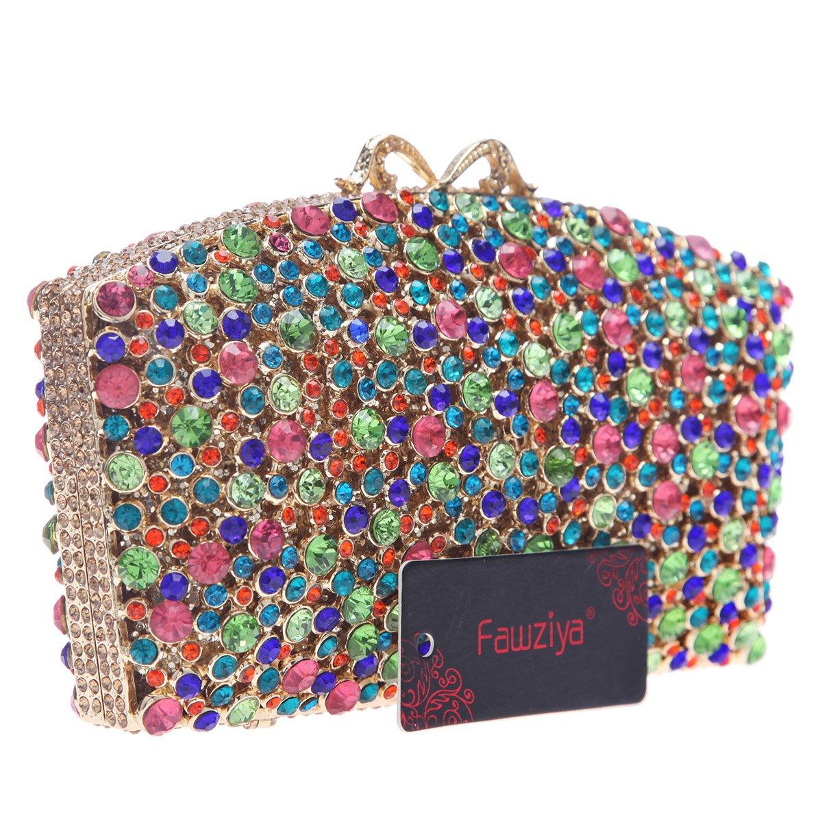 Amazon.com: fawziya Bling Colorful Diamond Embrague Bolso ...