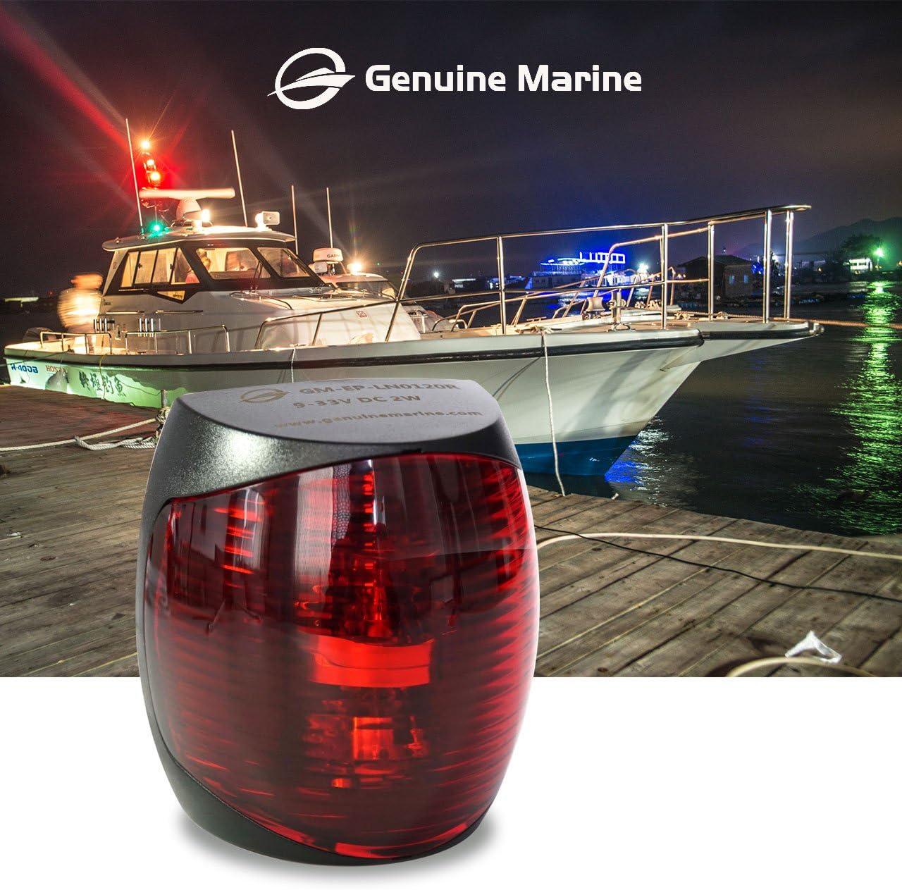12V Marine Red Port Green Starboard Light Stern 3 NM Bi-Color Lights Operates at IP55// IP67 THALASSA Boat 12V Navigation Lights Water Resistant Lamp Safe Sailing as Signal Lamp