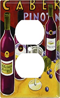 Art Plates - Red Wines Switch Plate - Outlet Cover : decorative wine plates - pezcame.com
