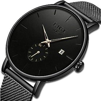 Relojes para Hombre Moda Minimalista Simple Impermeable Analógico ...