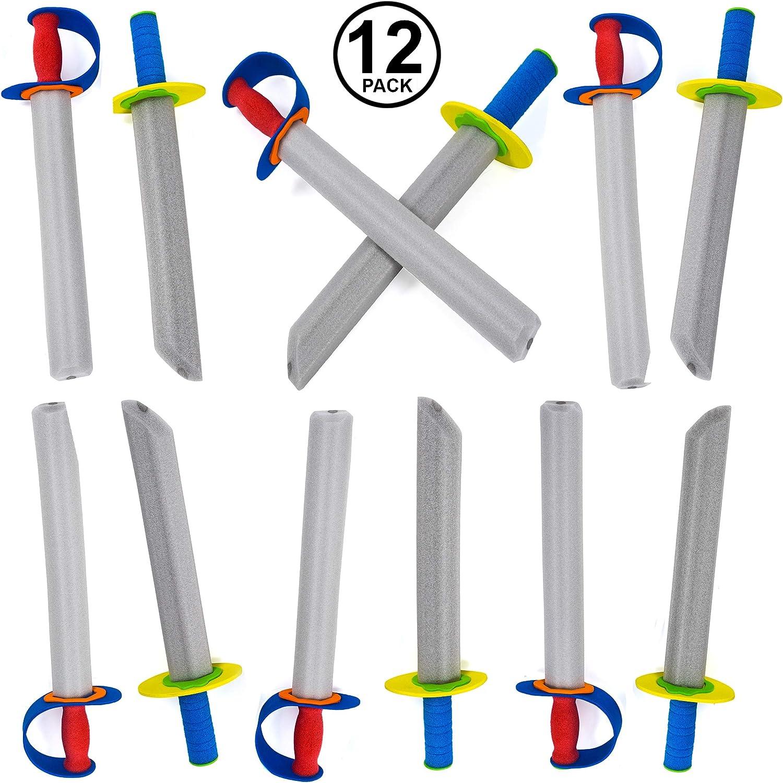 Foam Swords - 12 Pack Foam Toys - Ninja Swords - Toy Weapons