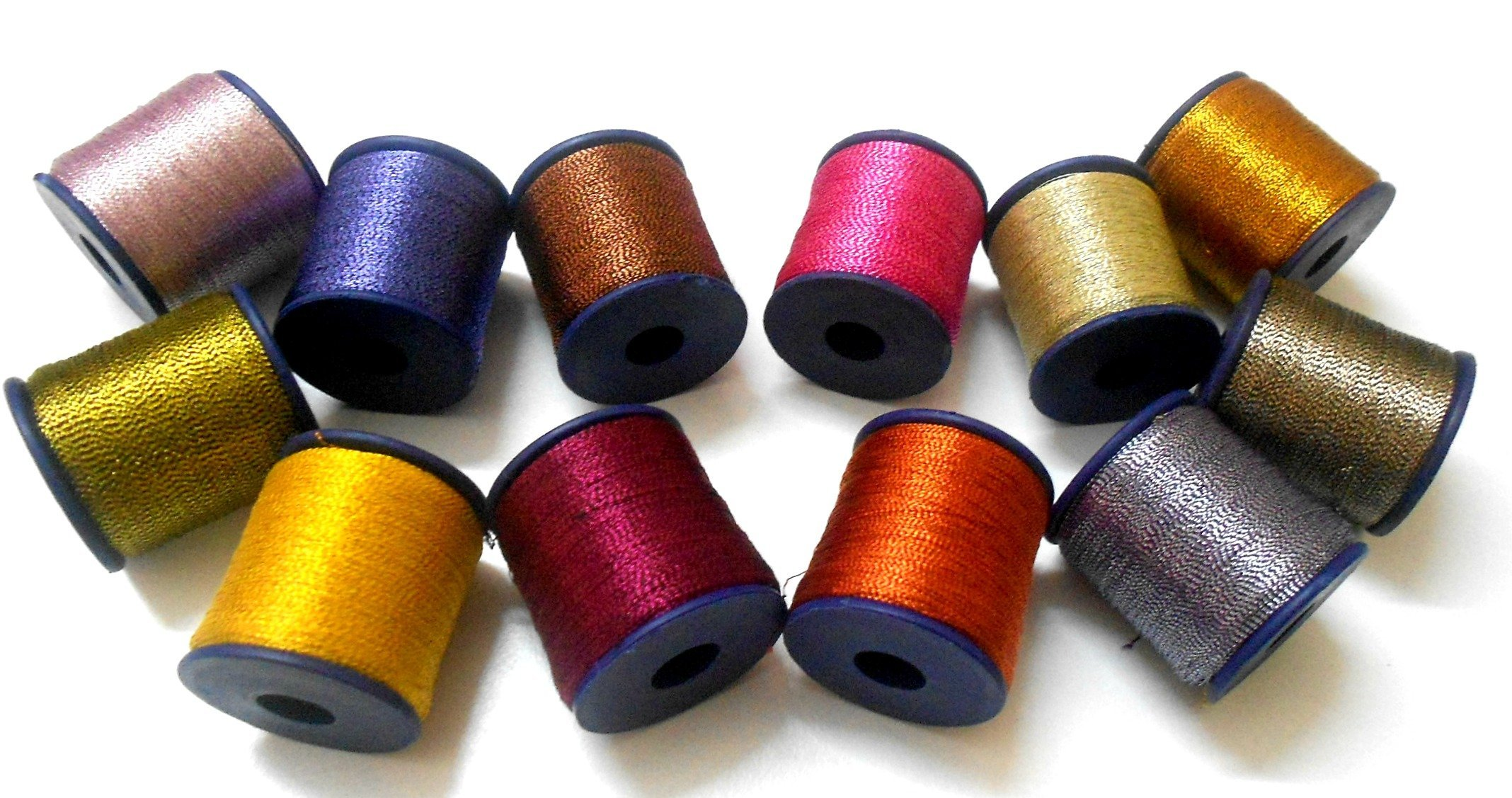 GOELX Metallic Zari Threads Colourful Shiny Threads for Crafts, Embroidery, Jewellery Making
