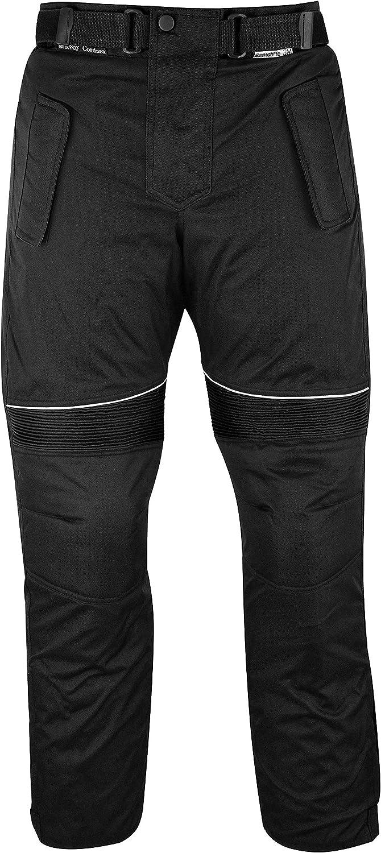 German Wear GW350T - Pantalones de Moto, Negro, 46 EU/XS: Tamaño de la cintura - 82 cm