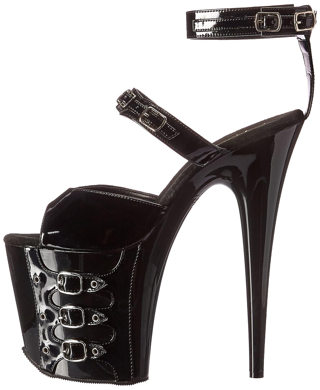 Pleaser Women's Flam885/b/m Platform Sandal B01M9G2RIZ 7 B(M) US|Black Patent/Black