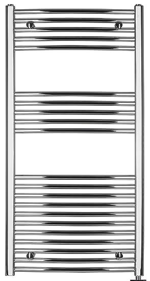Radiador Toallero eléctrico, cromado, curva, disponible en diferentes tamaños, toallero, Secador de toalla - 1175h x 500b: Amazon.es: Hogar