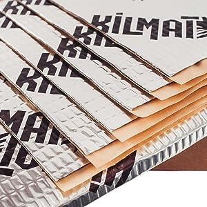 Kilmat 50 mil 25 sqft Car Sound Deadening Mat, Butyl Automotive Sound Deadener, Audio Noise Insulation and dampening