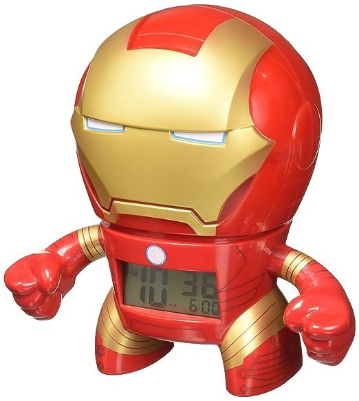 e9d4c5efd2e1 Amazon.com  BulbBotz Marvel Iron Man Kids Light up Alarm Clock