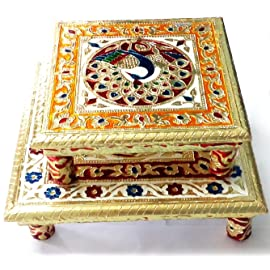 Royals Pooja Chowki (8 + 10 Inch) Amazing Offer