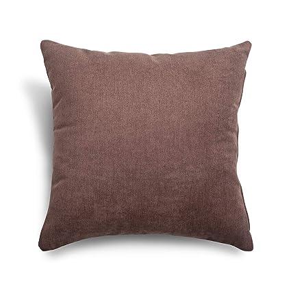 SuenosZzz- COJIN Relleno. Cojines Decoracion, Sofa,Cama, tapizado Acualine Antimanchas Marron. Medidas: 48x48. Decoracion CASA.