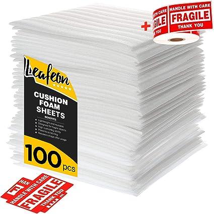 Papel de Embalar - Hojas de Cojín de Espuma - 30 x 30 cm - Caja Mudanza Embalaje - Mudanzas Bolsas - Proteger los Platos - Papel Burbujas Embalaje - Rollo Burbujas Embalaje - Paquete de 100: Amazon.es: Oficina y papelería