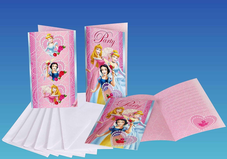 Invitaciones Cumpleaños Princesas CUMP/FIES: Amazon.es ...