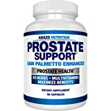 Prostate Supplement - Saw Palmetto + 30 Herbs - Reduce Frequent Urination, Remedy Hair Loss, Stamina – Single Homeopathic Her