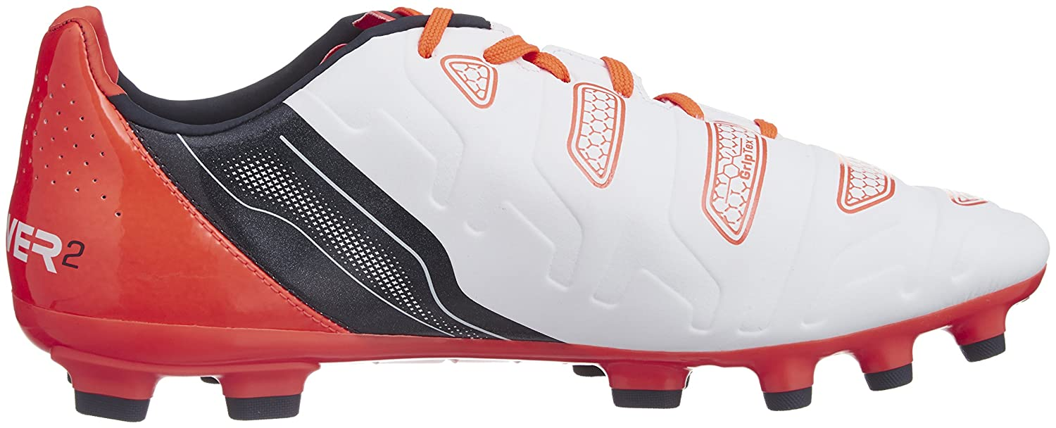 4ea1a83f5d8 Amazon.com   PUMA Evopower 2.2 AG Football Boots (White-Orange)   Shoes