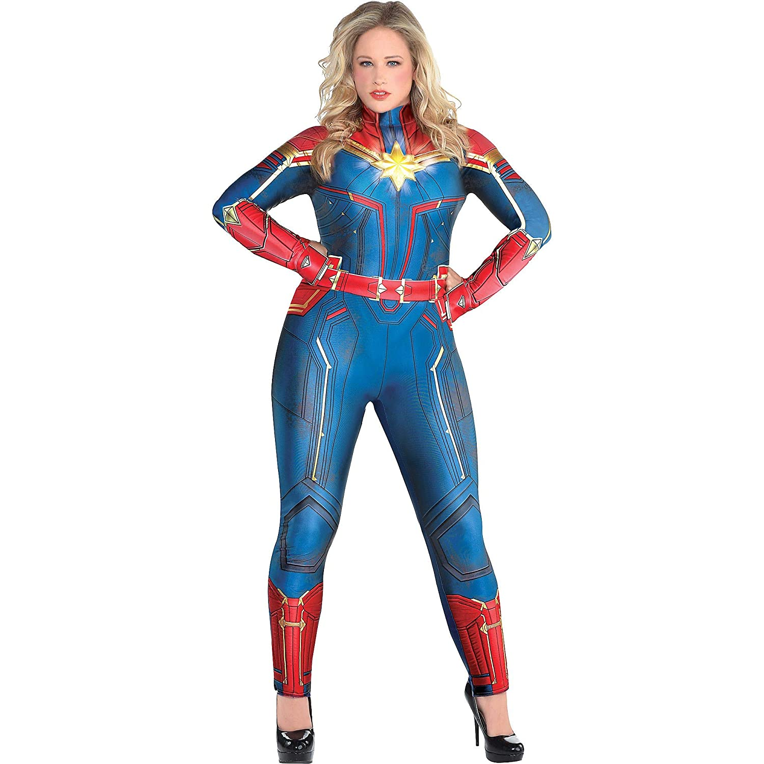 Light-Up Captain Marvel Halloween Costume for Women