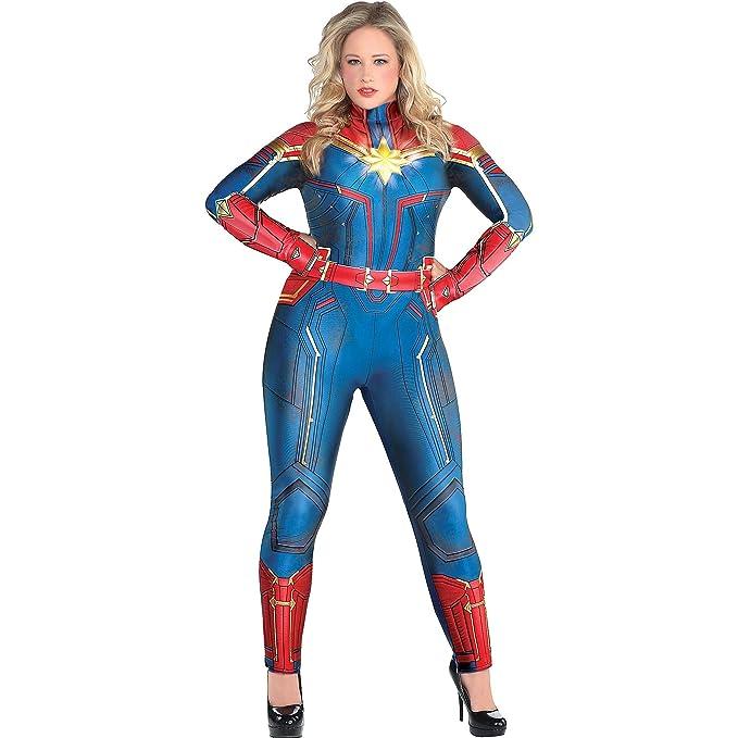 Amazon.com: Disfraz de Capitán Marvel para Halloween, para ...