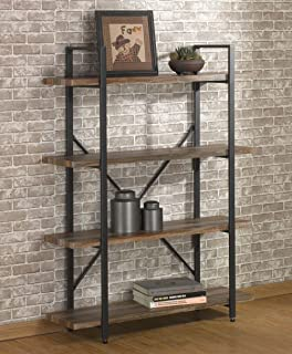 Awesome Ou0026K Furniture 4 Tier Bookcases And Book Shelves, Industrial Vintage Metal  And Wood Bookcases Furniture
