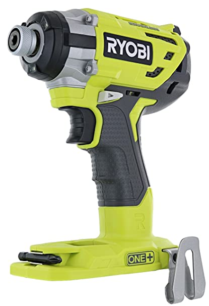 Ryobi P238 18V One+ Brushless 1/4 2,000 Inch Pound, 3,100 RPM Cordless  Impact Driver w/ Gripzone Overmold, Belt Clip, and Tri-Beam LED (Power Tool
