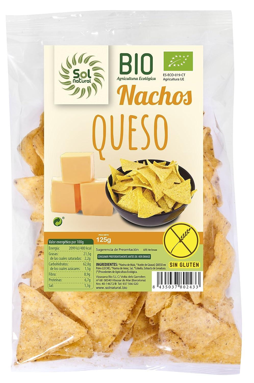 Sol Natural Nachos de Maíz con Queso, sin Gluten - Paquete ...