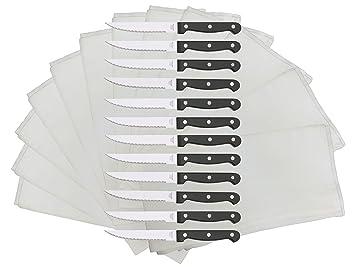 IKEA SNITTA - Juego de cuchillos de cocina con mango negro y ...