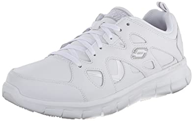 Skechers for Work Men's Synergy Hosston Walking Shoe,White,9 ...