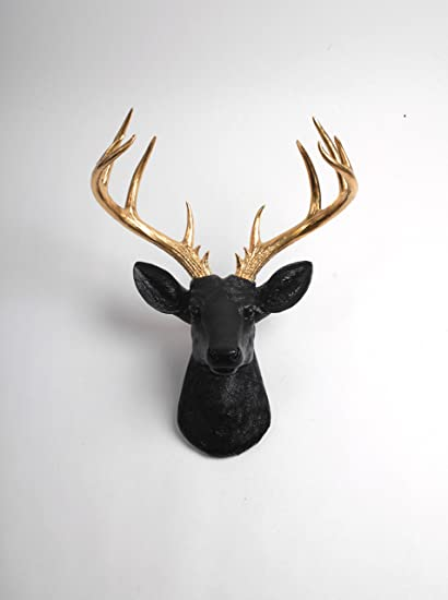 X Large Deer Head Wall Mount , The XL Alexandr Deer Wall Mount Sculpture |  Fake