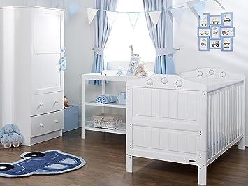 Gentil Obaby Lisa 3 Piece Nursery Furniture Set   White
