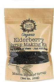 Organic Elderberry Syrup Kit - Makes 18oz of Syrup - DIY - Natural Immune Support - Elderberries - Ginger - Cloves - Cinnamon
