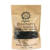 Organic Elderberry Syrup Kit - Makes 18oz of Syrup - DIY - Natural Immune Support - Elderberries - Ginger - Cloves - Cinnamon Sticks - Organic Spices