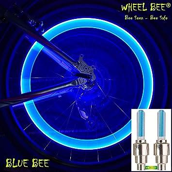 Wheel-Bee LED Fahrrad Ventillicht, Blau - 2 Stk, wertiges Alu ...