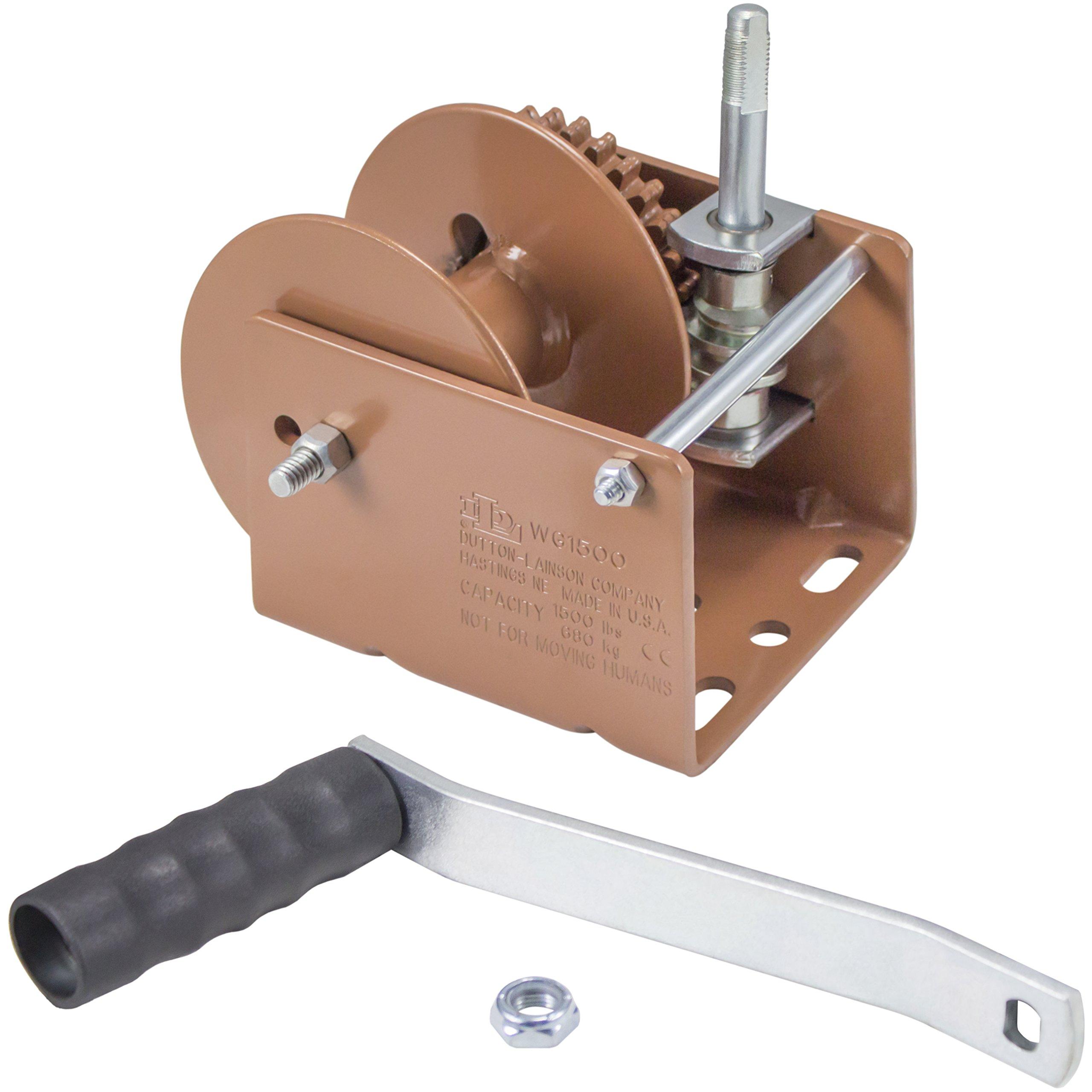Dutton-Lainson Company WG1500 Worm Gear Winch - 1500 lb. Load Capacity by Dutton-Lainson Company