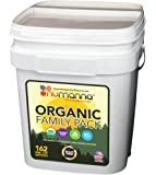 NuManna USDA ORGANIC Family Pack 162 Servings, Emergency Survival Food Storage Kit, Separate Rations, in a Bucket, Meals Included Have 25 Year Shelf Life , GMO-Free (Single)