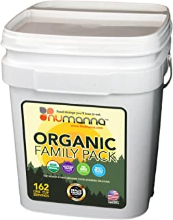 NuManna USDA ORGANIC Family Pack 162 Servings Emergency Survival Food Storage Kit Separate Rations  sc 1 st  Amazon.com & Amazon.com : Survive2thrive 100% USDA Organic 40-day Nutrition ...