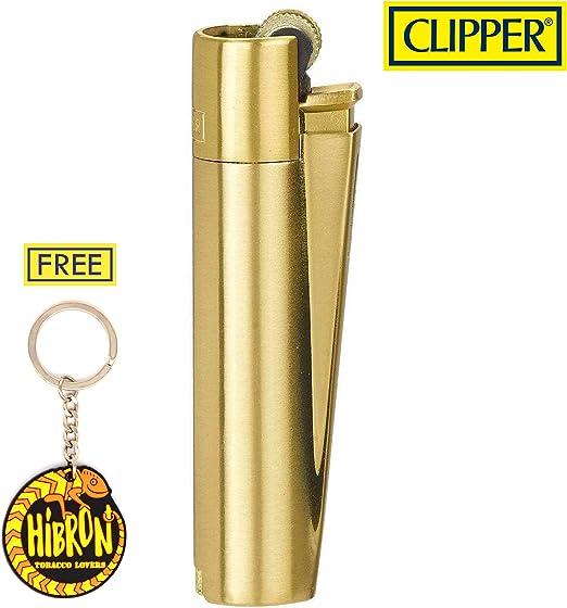 HIBRON Clipper 1 Encendedor Mechero Clásico Largo Metal Gold Oro ...