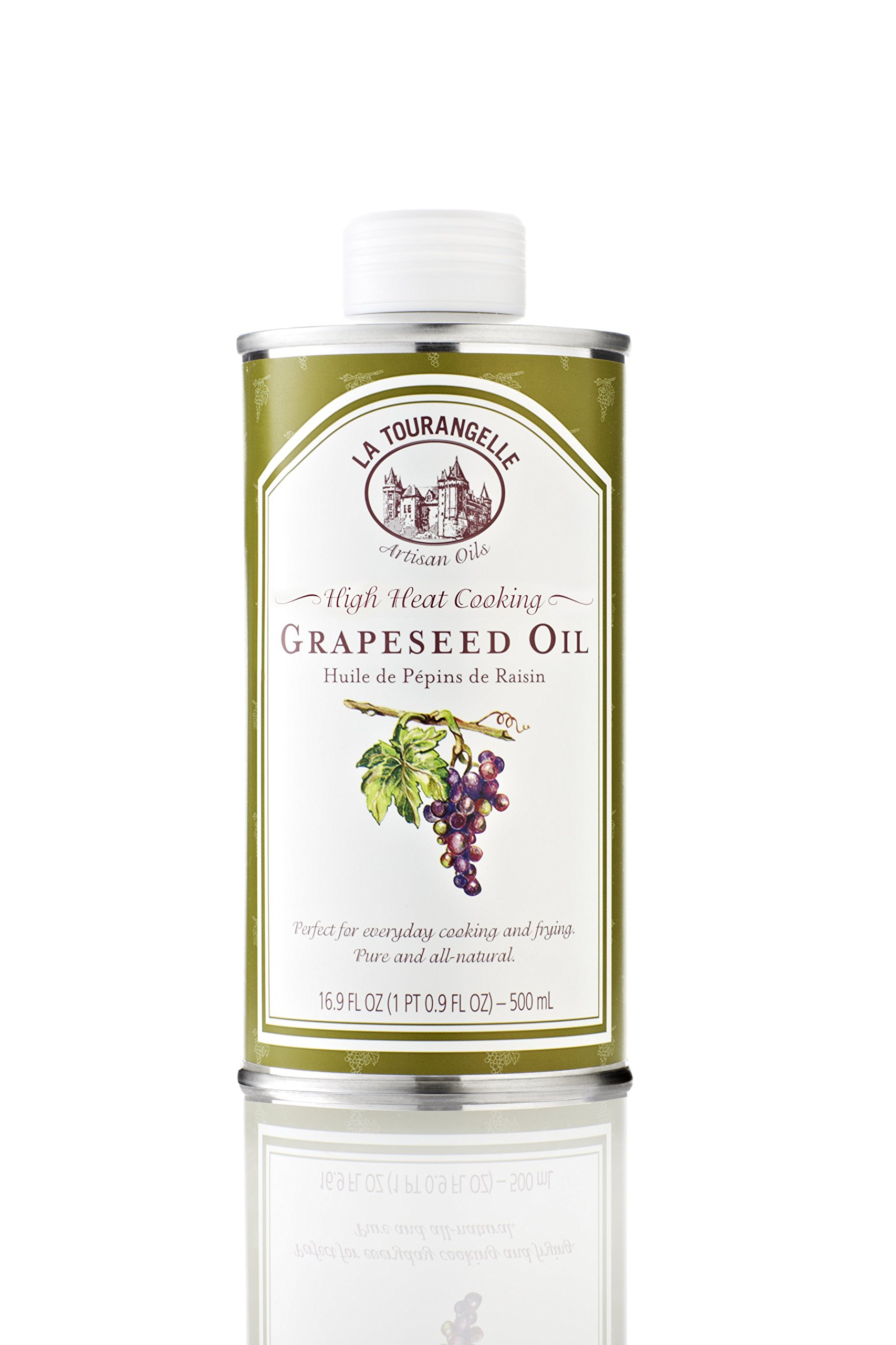 La Tourangelle Grapeseed Oil, 16.9-Ounce Cans (Pack of 3) by La Tourangelle