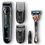 Braun BT3040 Beard Trimmer for Men with Gillette Fusion ProGlide Razor, Adjustable Beard Trimmer, Black/Blue