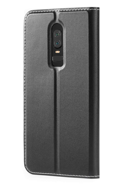 Funda Cartera OnePlus 6 Funda M/óvil OnePlus 6 Negro Mulbess Magn/ético Funda para OnePlus 6 Funda Cuero para OnePlus 6 Funda con Tapa