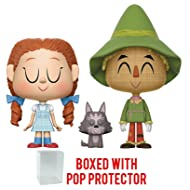 Funko Vynl: The Wizard of Oz - Dorothy, Toto and Scarecrow Vinyl Figure 2-Pack (Bundled with Pop BOX PROTECTOR CASE)