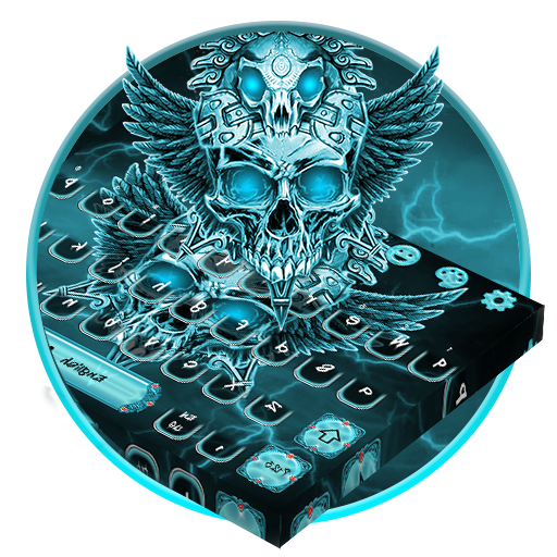 Amazon com: Blue Tech Skull Angel Keyboard Theme: Appstore