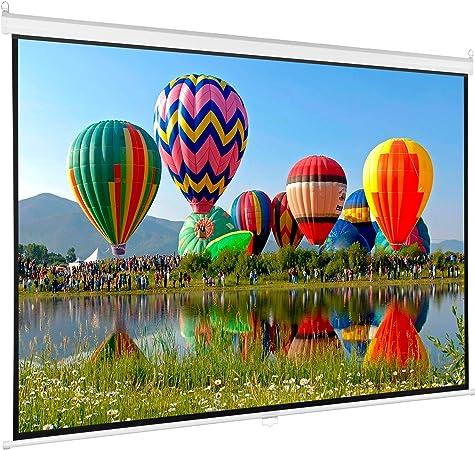Amazon.com: Proyector de pantalla Vivo, diagonal 16:9, de ...