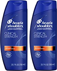 Head & Shoulders, Shampoo, Anti Dandruff, Clinical Strength Seborrheic Dermatitis Treatment, 23.7 Fl Oz, Pack of 2