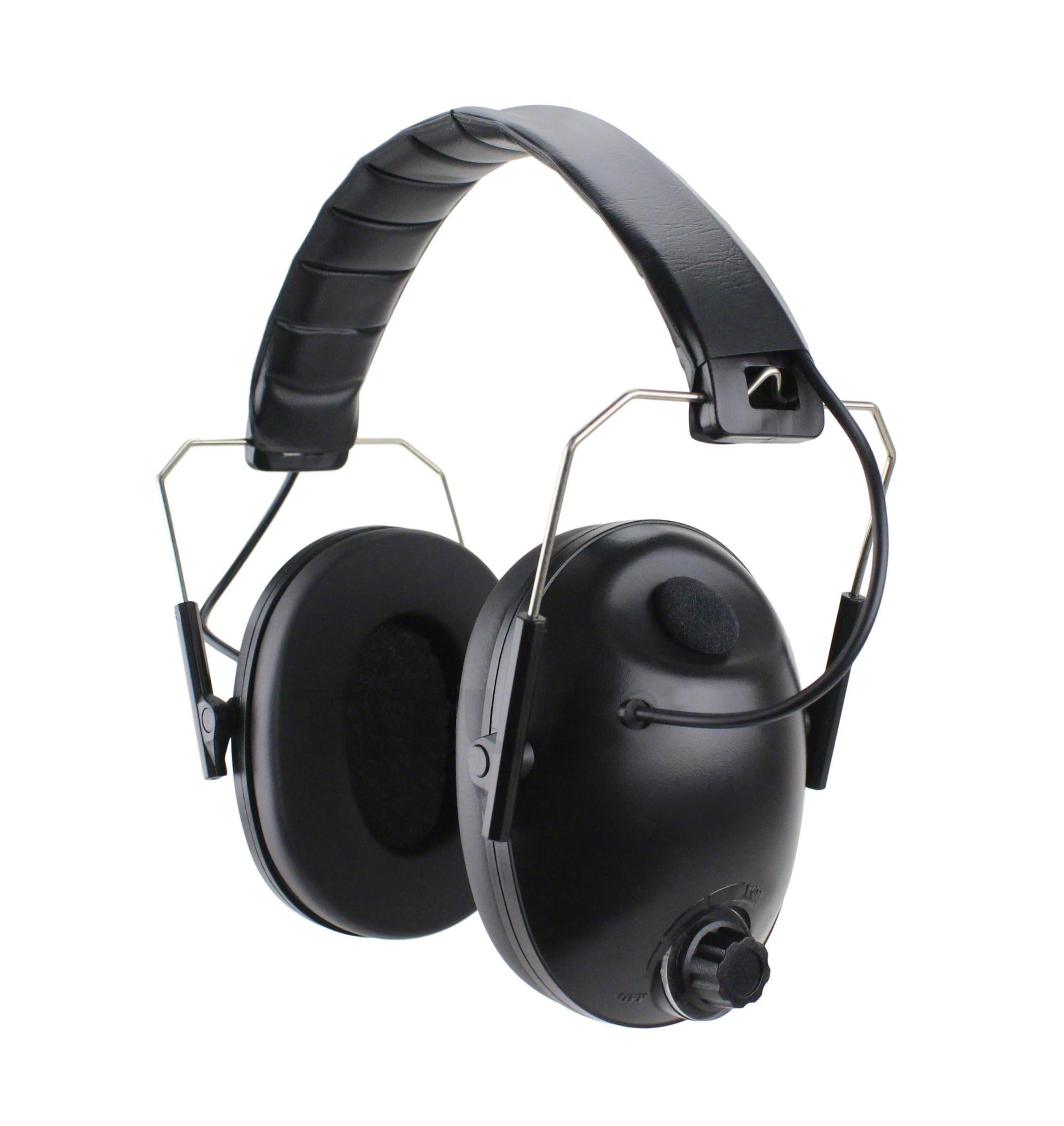 Titus Low-Profile High Decibel NRR Safety Earmuffs (No Pouch, Black - Electronic)