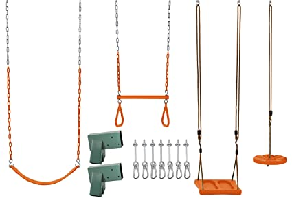 Amazon.com : Swingan DIY Swing Set Kit - with Belt Swing, Trapeze ...