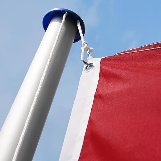 TecTake Mástil para bandera 6,25 m con bandera y cuerda palo asta aluminio - varios modelos - (España   no. 402848): Amazon.es: Hogar