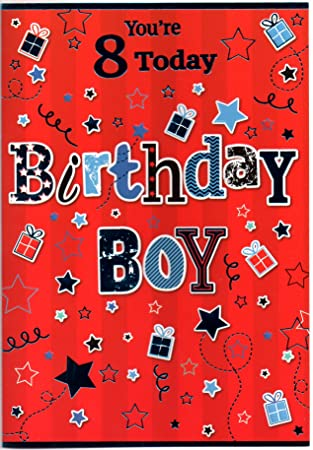 Birthday Card For Eight 8 Year Old Boy