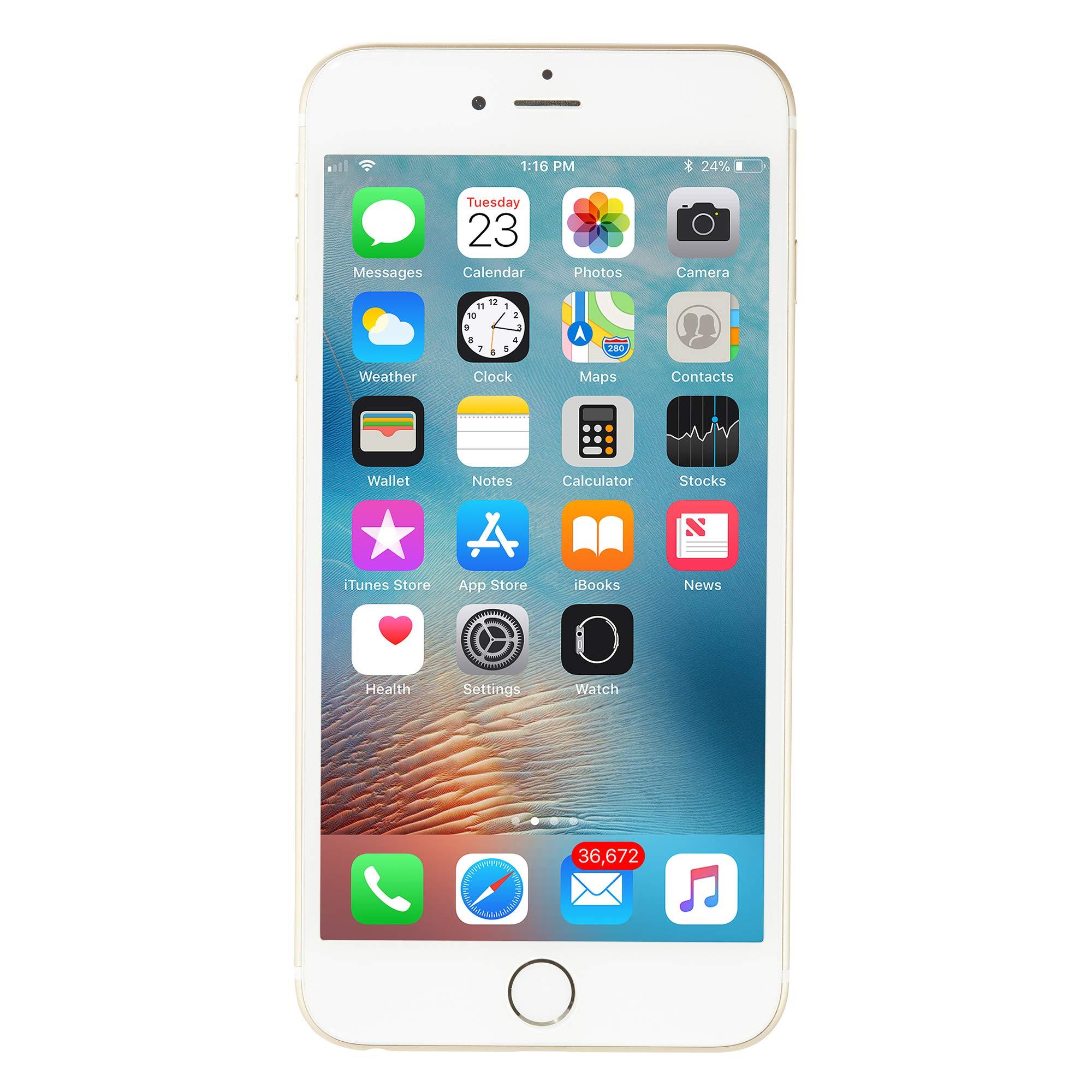Apple iPhone 6 Plus, GSM Unlocked, 16GB - Gold (Renewed) by Apple