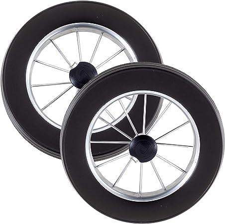 2 roues de remplacement de qualit/é pour chariot de courses