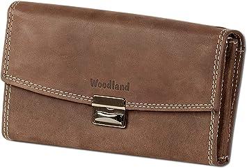 Woodland® Profi Kellnerbörsen-Holster im Querformat aus Büffelleder in Braun